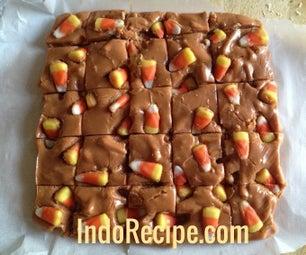 Candy Corn and Pretzels Fudge