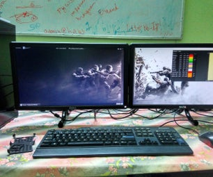 DIY Dual Monitor Stand for Less Than $10