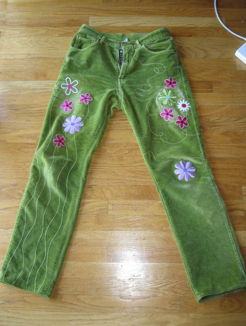 Decorate Pants with Machine Embroidery