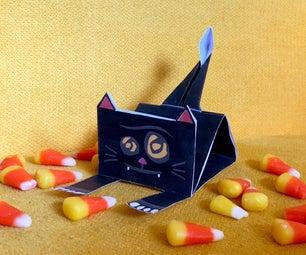 免费的万圣节黑猫纸工艺品