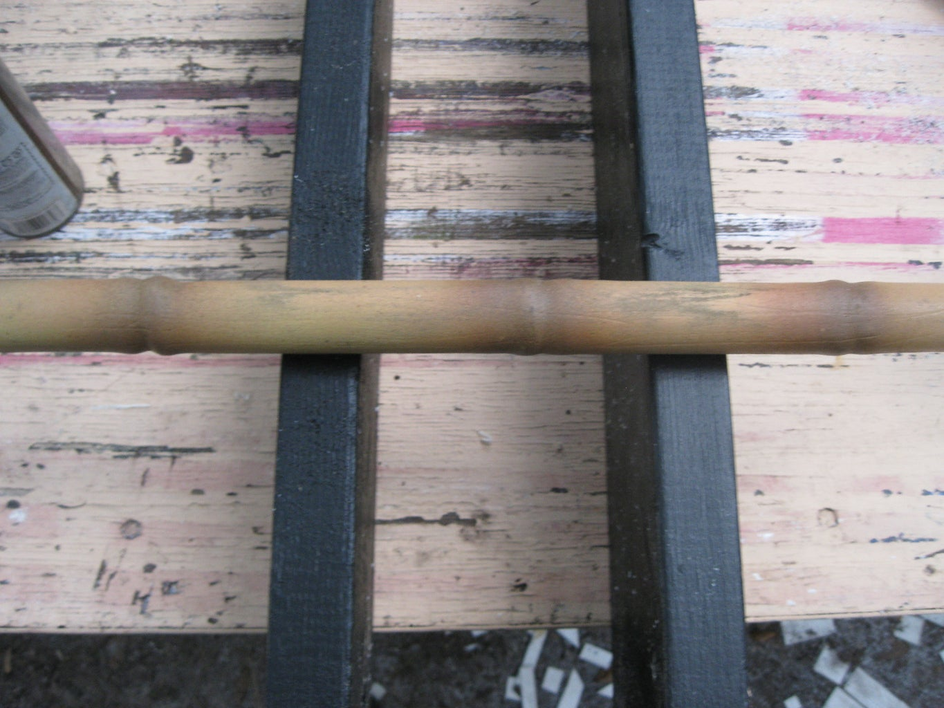 Painting the Faux Bamboo