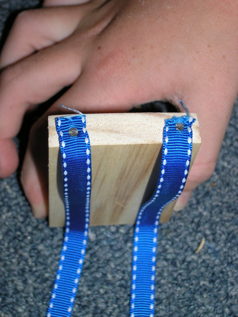 Nail the Ribbons to the First Block