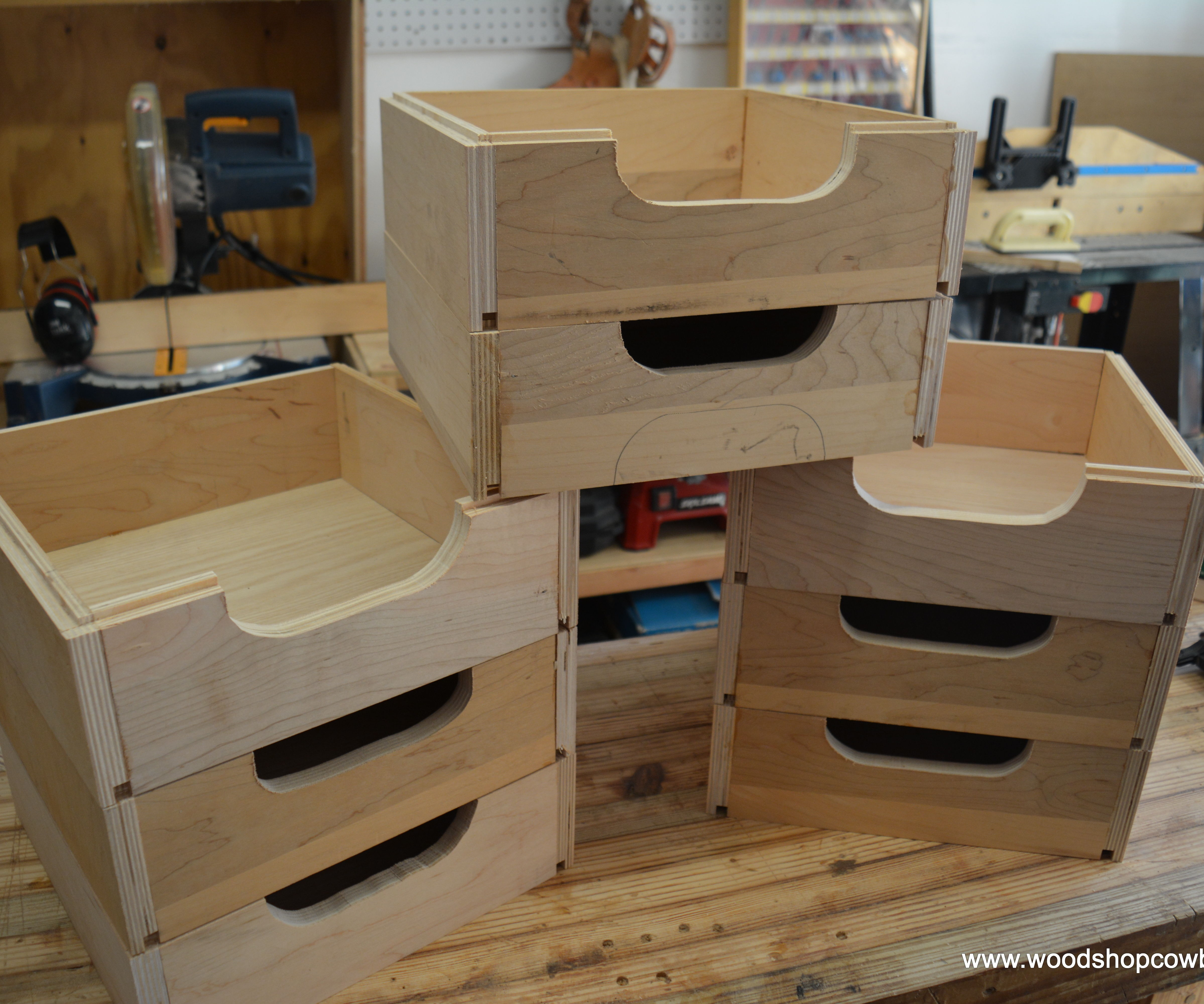 Stackable Shop Storage Boxes