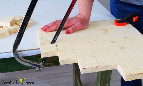 Cutting the Wood Panel.
