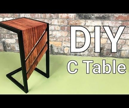 C Table - DIY Slide-Under Sofa or End Table | Welding and Wood Project