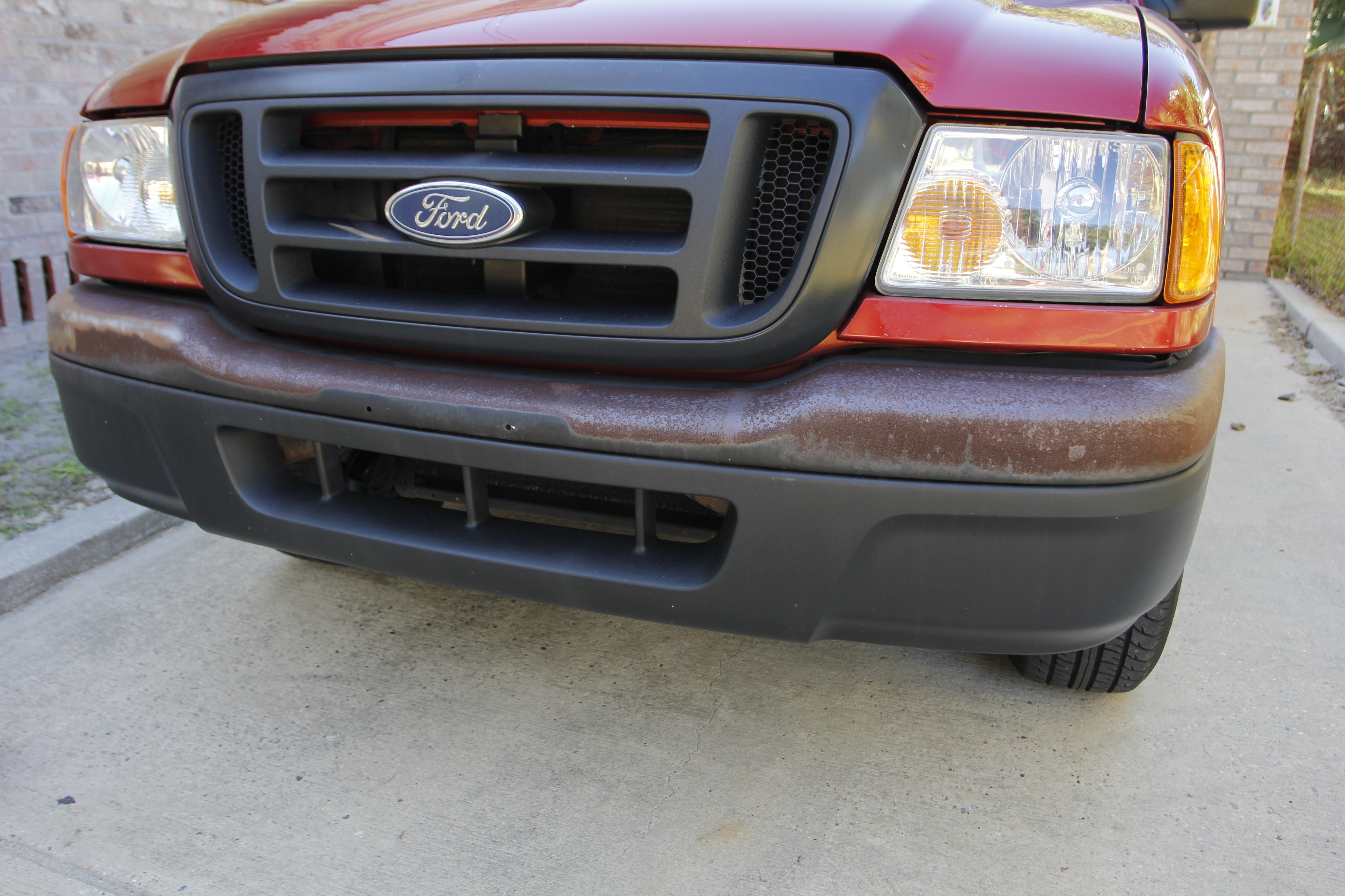 Restore metal bumper