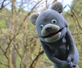 泰迪熊手木偶