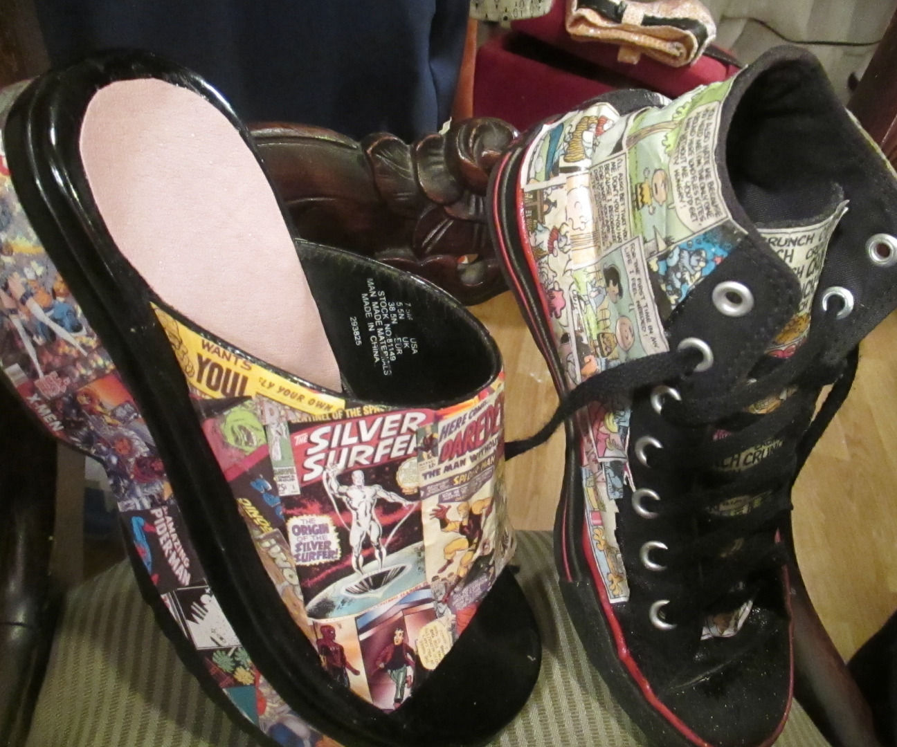 Comics Shoes: Hightops & Platform Clogs