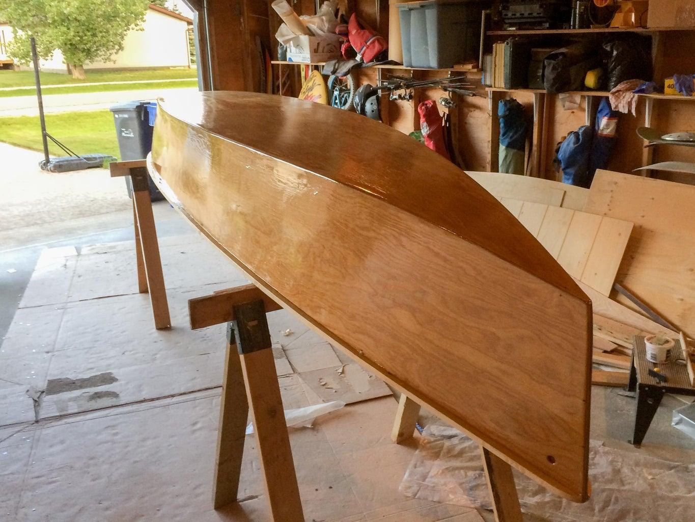 Epoxy Coating the Canoe