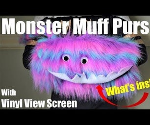 Monster Muff Purse With Vinyl View Screen