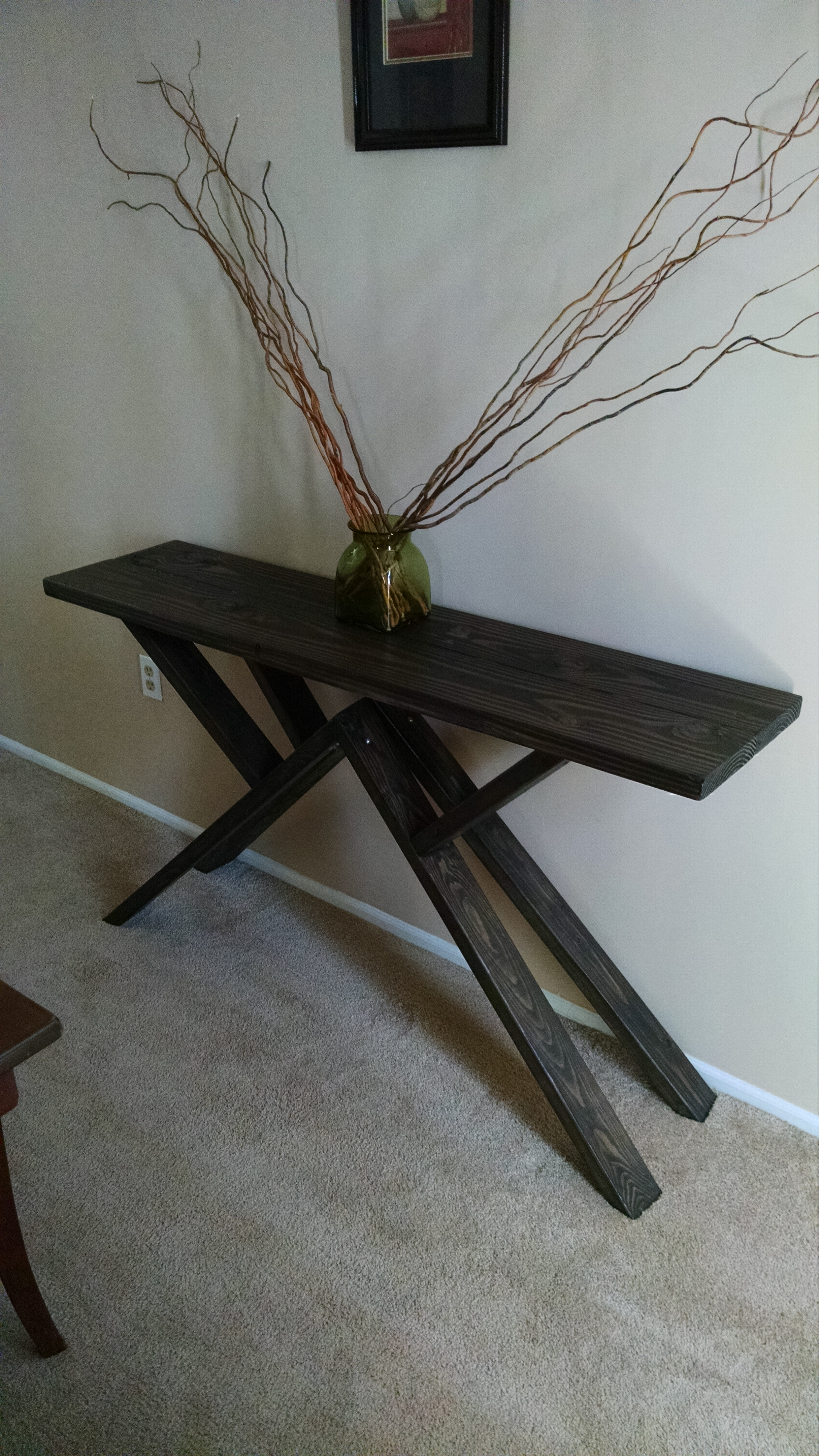 100k table into a $25 console table