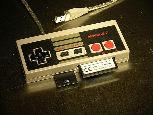 Nintendo controller into a PC card reader