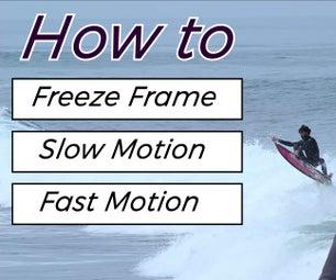 在Adobe Premiere Pro中冻结帧,慢动作和快速运动
