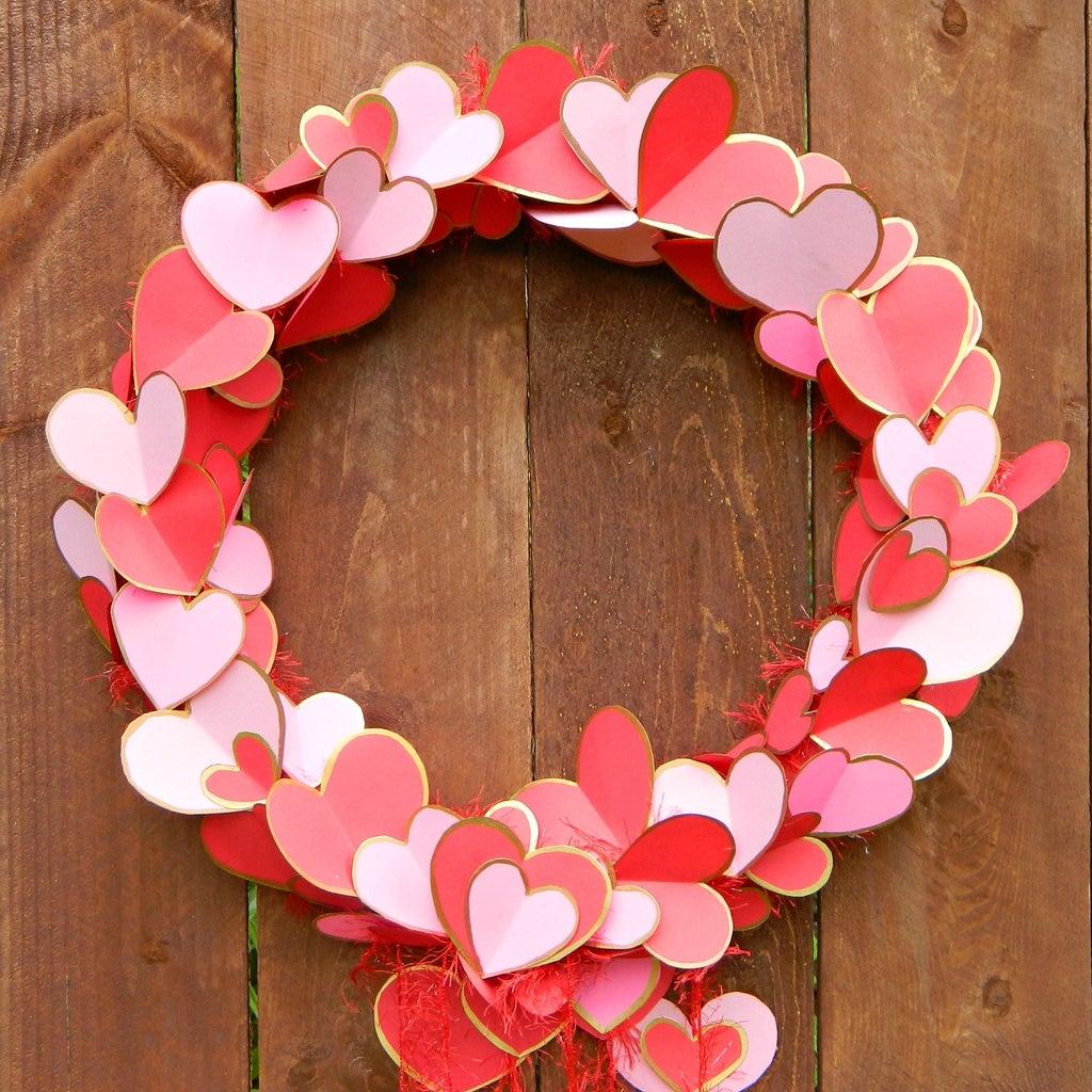 Gilded Hearts Valentine Wreath