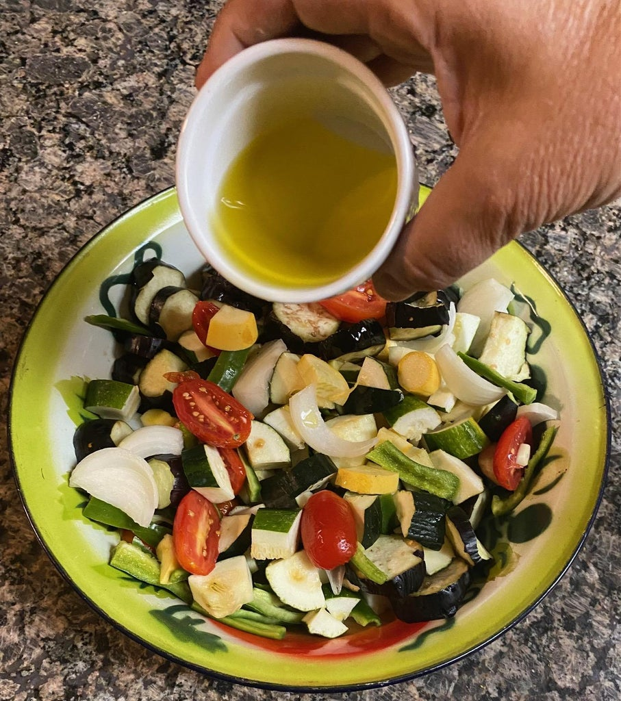 Add Olive Oil and Salt:
