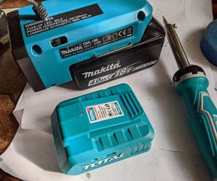 How to Make a Makita Battery Soldering Iron (with Worklight ?)