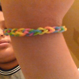 Single Chain Rainbow Loom Bracelet