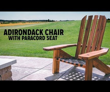 DIY Adirondack Chair With a Paracord Seat