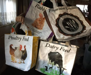 Tote Bags Made From Feed Bags
