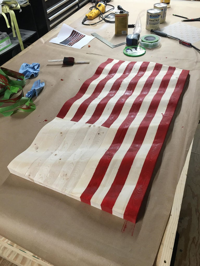 Taping and Staining