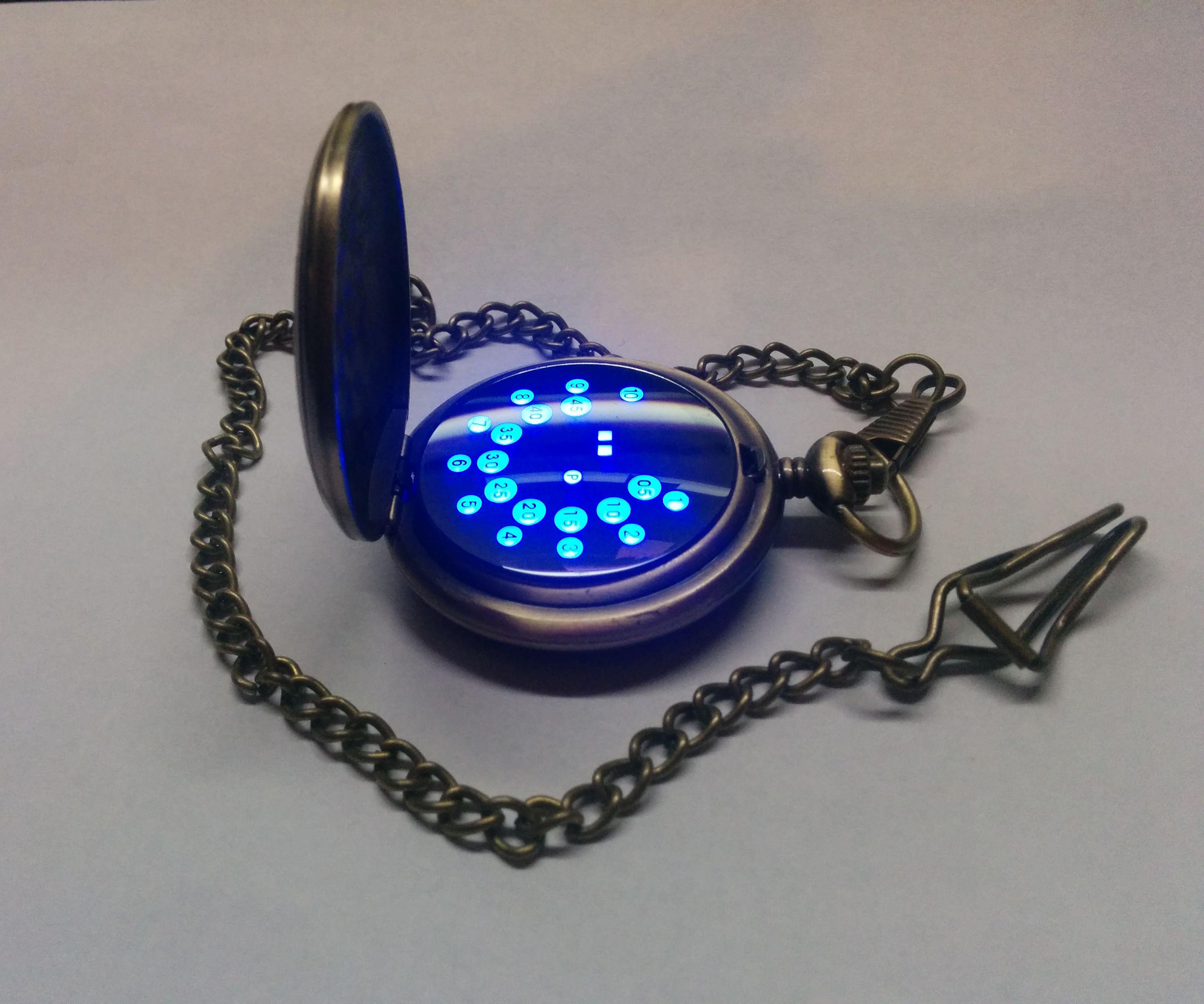 DIY LED Pocket Watch