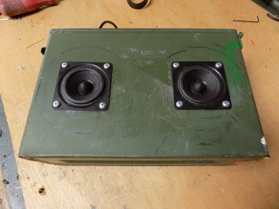 Attaching the Speakers to the Ammo Box