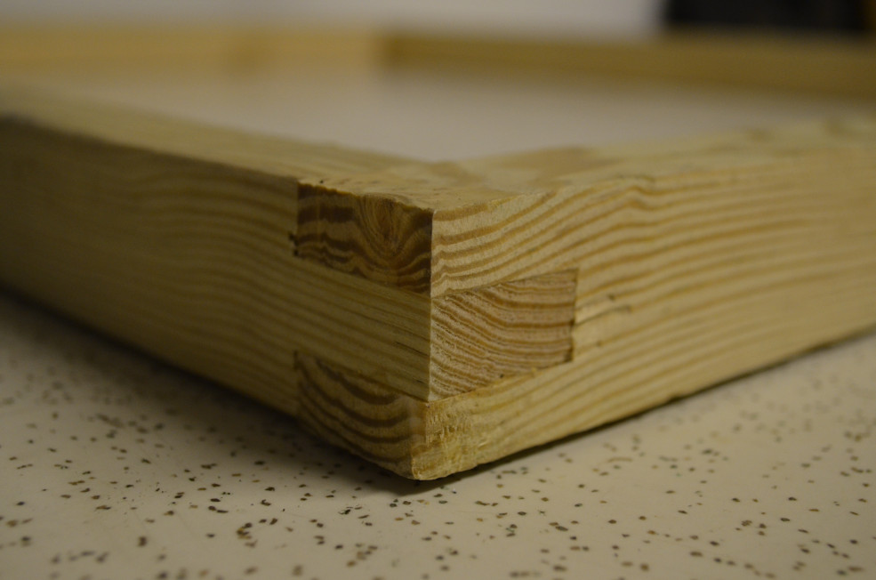 Three finger box joint using a tenon jig