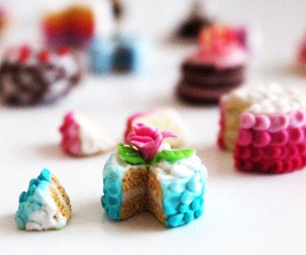 Polymer Clay Ombré Rose Cake Miniature