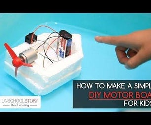制作简单的DIY汽船