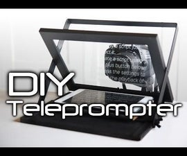 DIY Teleprompter - Cheap and Portable