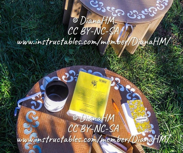 Portable Foldable Cardboard Stool-Table