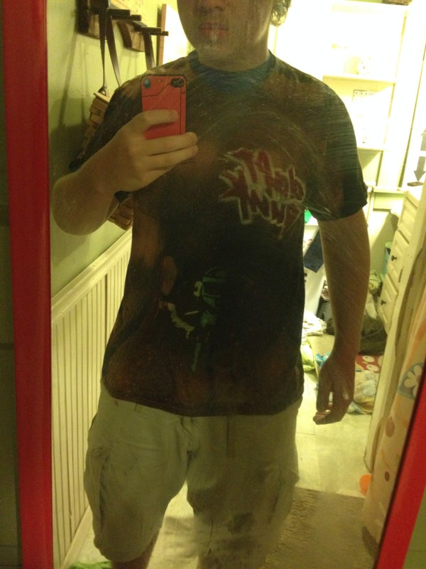 Bleach Dyed and Painted Tee Shirts