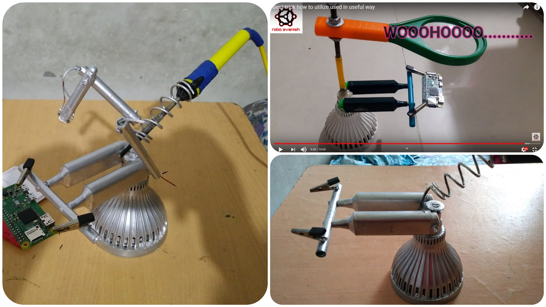 Trash to Treasure- Making Soldering Stand by 90% Old Materials