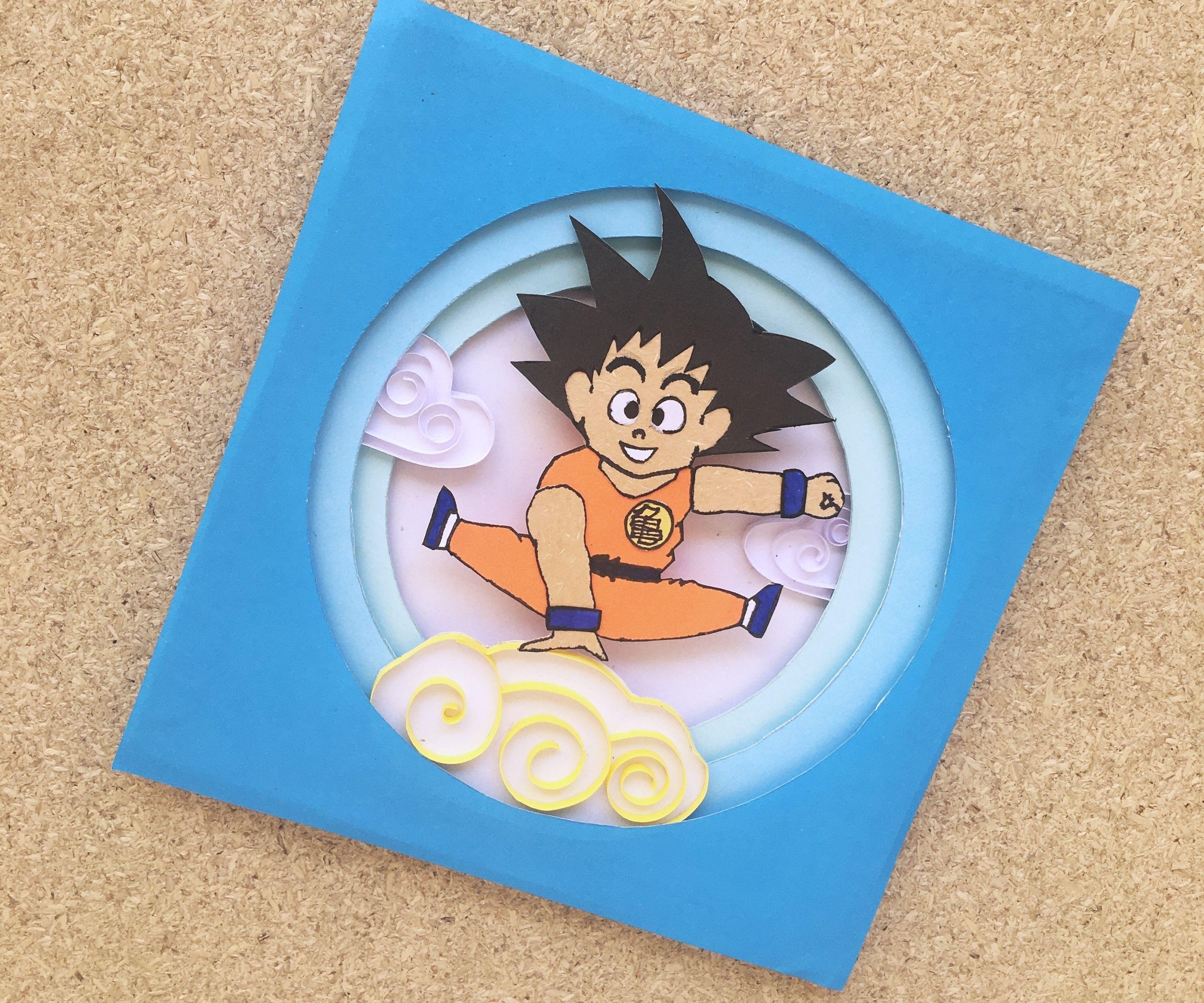 Dragon Ball Z Goku 3D Art Craft