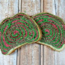 Coconut Bread Loaf With Psychedelic Spiral