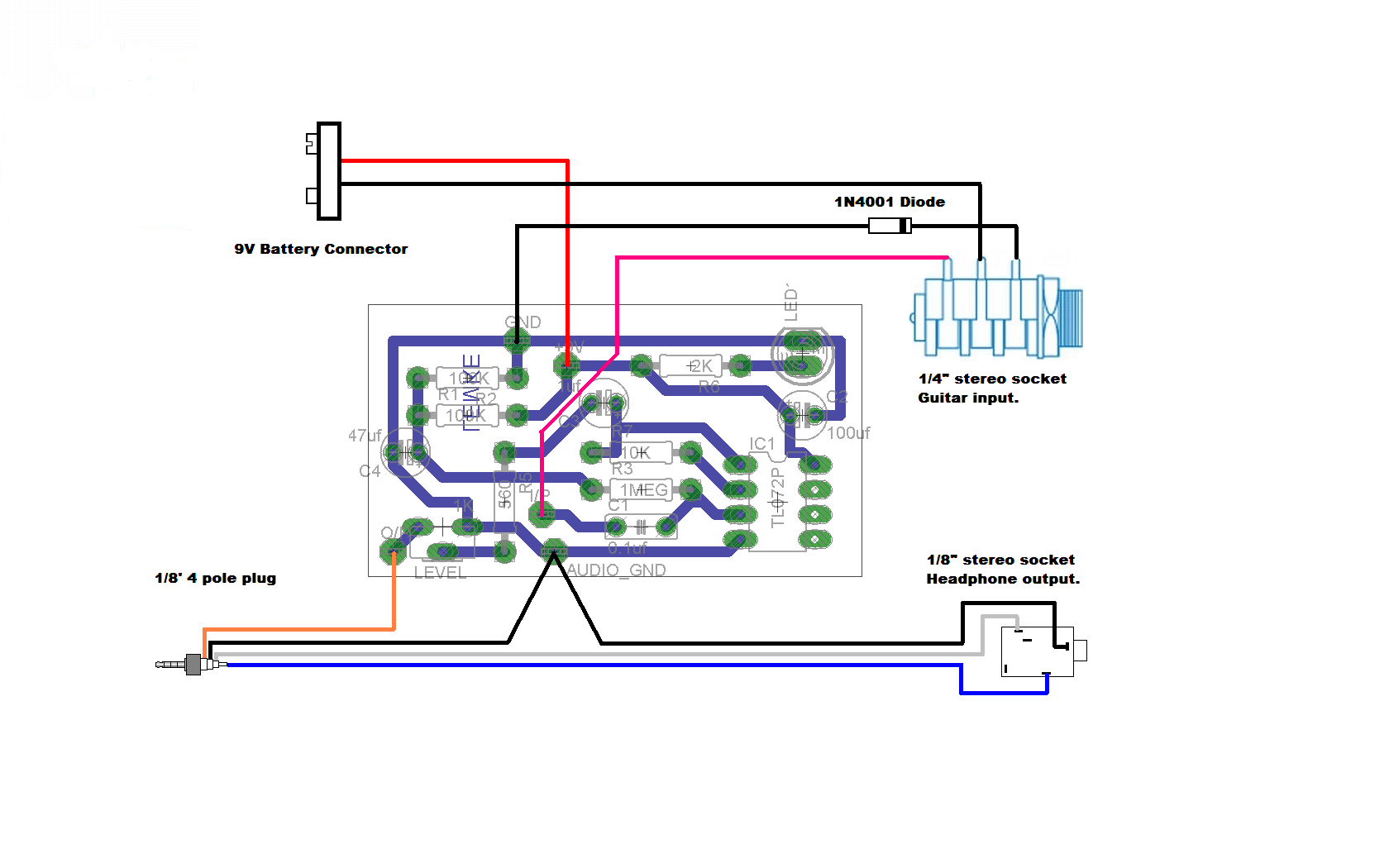Need help with schematic to veroboard! Usb Guitar Cable Wiring Diagram on usb 2.0 cable diagram, usb cable wire color code, ethernet wiring diagram, usb cable schematic diagram, micro usb port diagram,