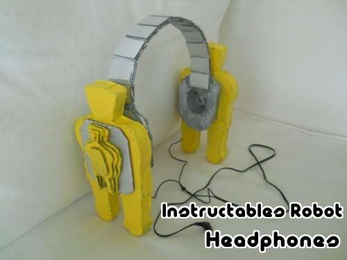 Instructables Robot Headphones
