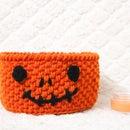 Crochet Halloween Candy Basket