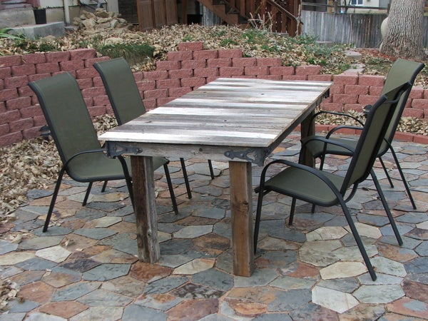 Turn a Broken Gate Into a Rustic Outdoor Table