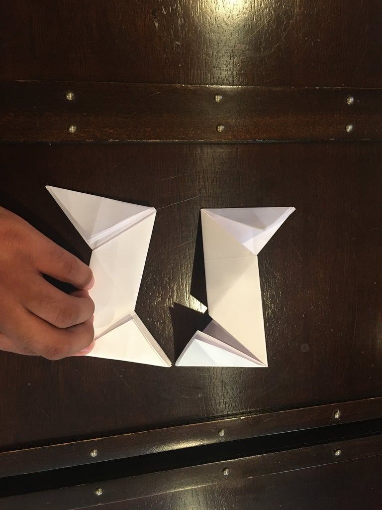 Fold the Squares Nto Triangle Till You Get This Shape