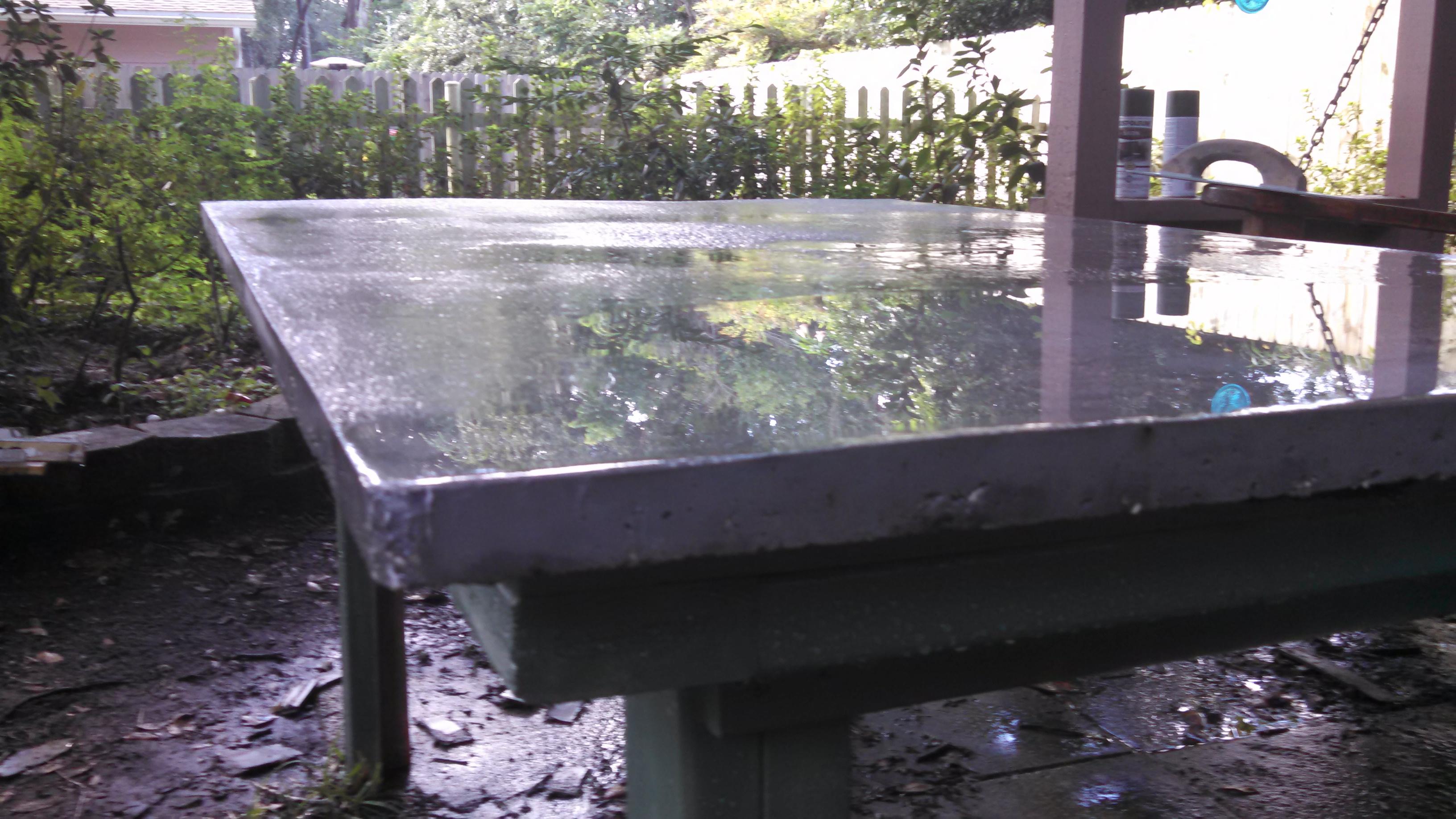 DIY Concrete Game Table under $100
