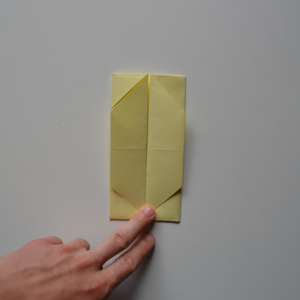 Fold the Right and Left Edges to the Middle.