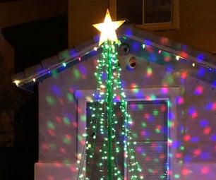 Upcycled Tetherball Christmas Tree