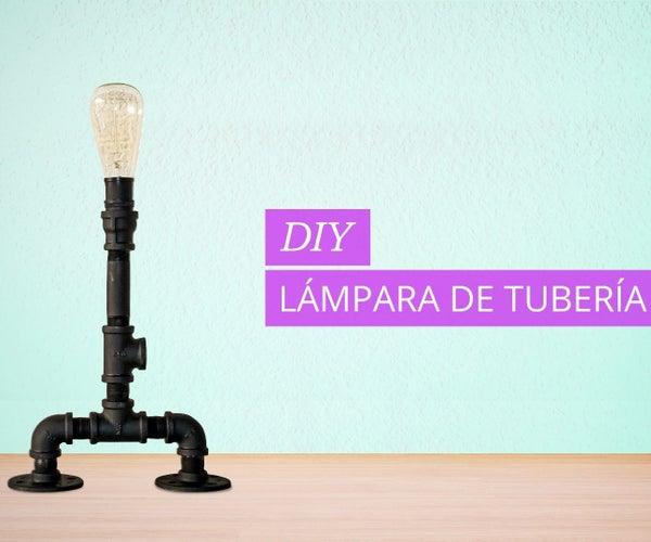Lámpara De Tubería Estilo Industrial