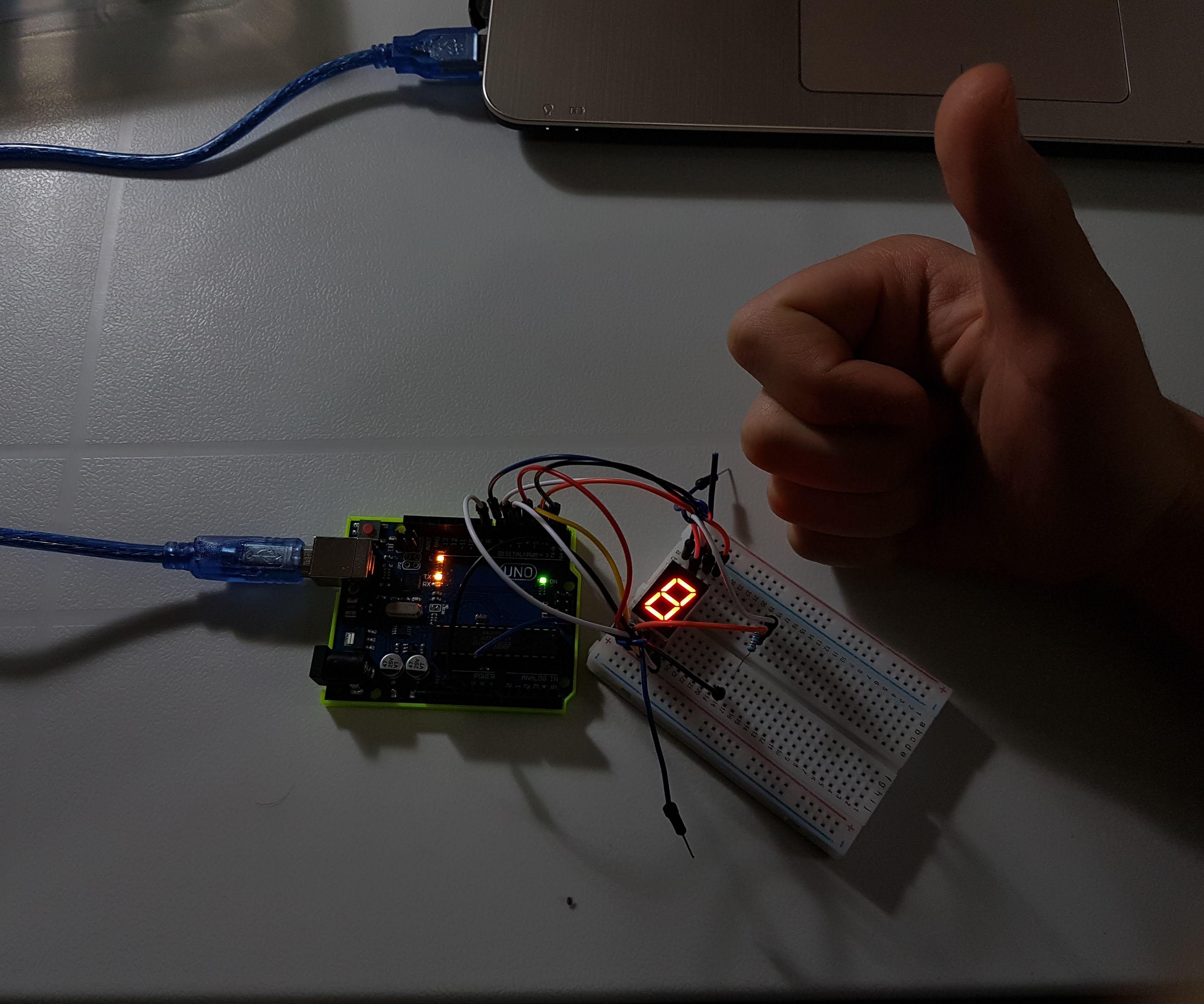 Arduino 7 Segment (5011BS, Common Anode or Cathode) Tutorial