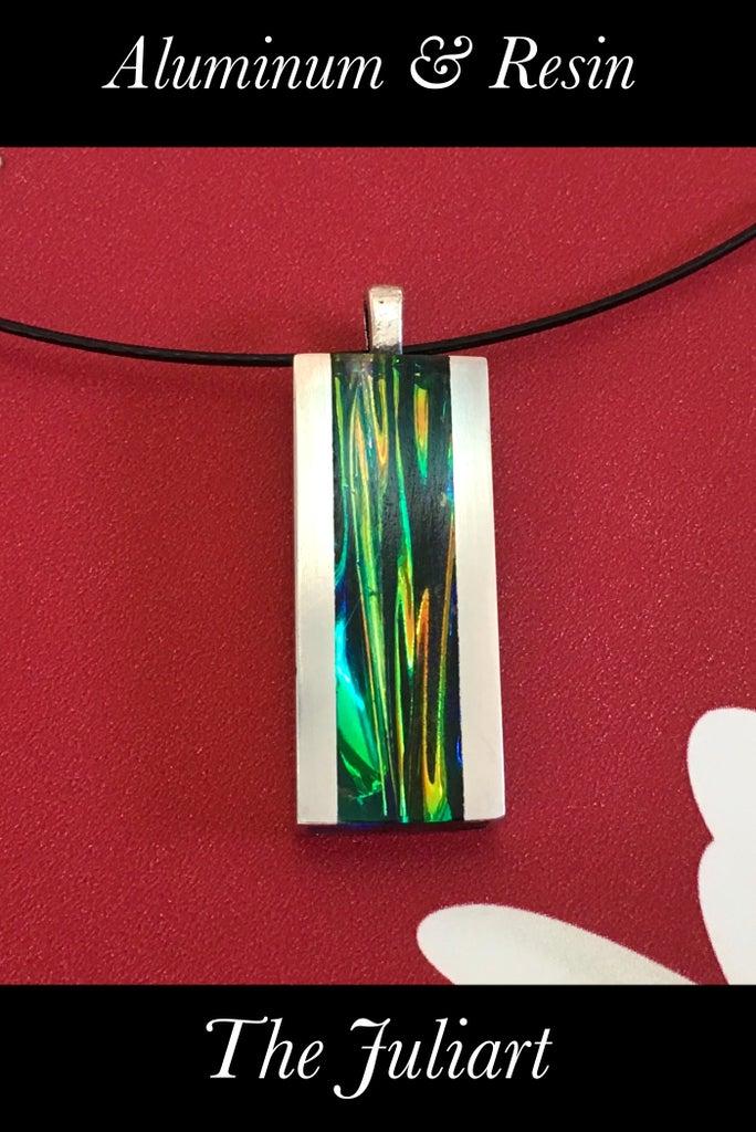 Resin Rainbow Nebula Pendant