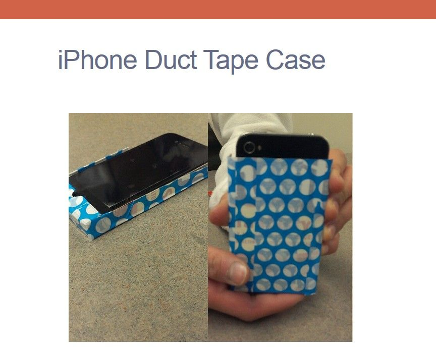 iPhone Duct Tape Case
