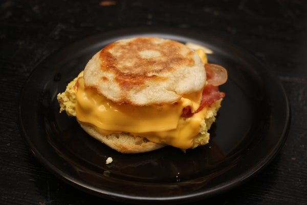 How to Make a Delicious Bacon Egg and Cheese Muffin.
