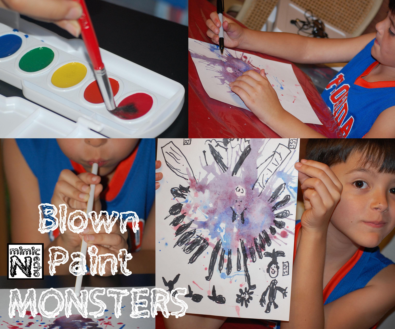 Blown Paint Monsters
