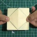 Folded Surprise: Paper Greeting Card